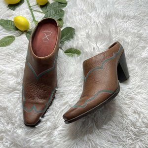 Twisted X Western Boots Mules Leather Booties 9.5